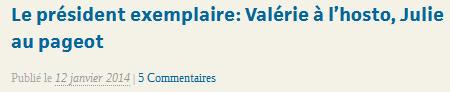 Valérie à l'hosto, Julie au pageot-Blog LENONCE