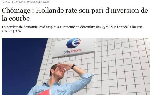 Chômage Hollande rate son pari-27.01.2014