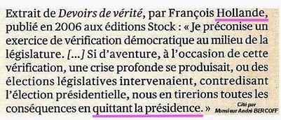 Hollande-Devoirs de vérité-2006-citation
