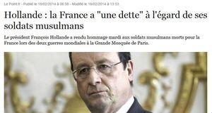 Dette de la France aux soldats musulmans-18.02.2014