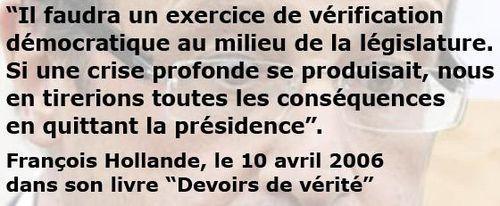 Crise profonde - Hollande
