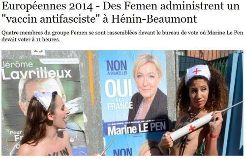 Femen infirmières à Hénin-Beaumont-25.05.2014