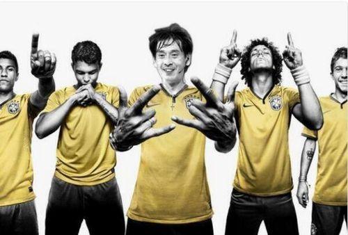 Nishimura 12e homme de l'équipe du Brésil-juin 2014