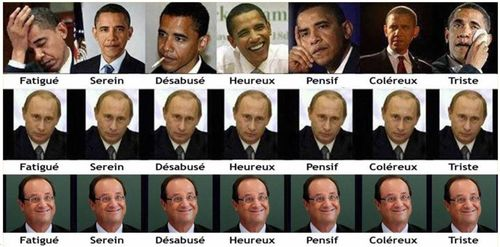 Obama-Poutine-Hollande