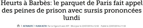 Barbès-appel sur les peines avec sursis-23.07.2014