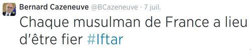 Cazeneuve - chaque musulman a lieu d'être fier