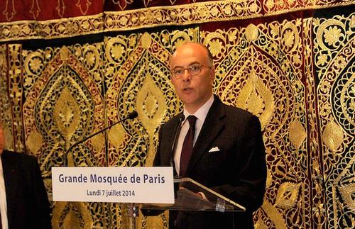 Cazeneuve à la Grande Mosquée de Paris - 07.07.2014