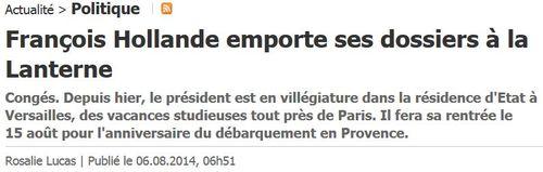 Hollande à la Lanterne