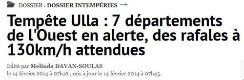 Tempête Ulla-14.02.2014