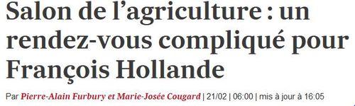 Salon de l'agriculture un RDV compliqué