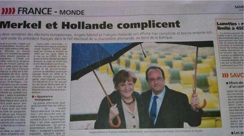 Merket et Hollande complicent
