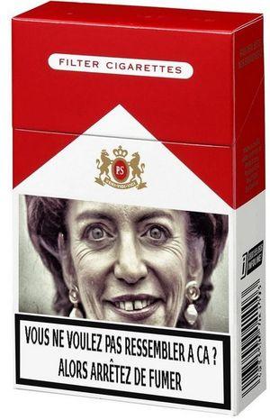 Marisol Touraine - paquets de cigarettes