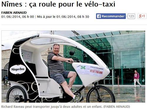 MIDI LIBRE-Nîmes vélo taxi-TITRE
