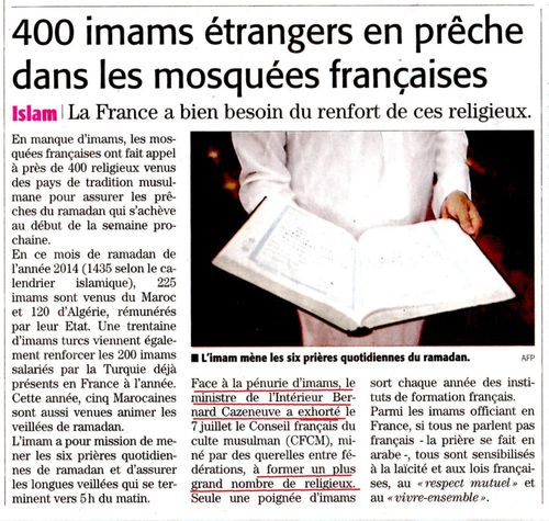 Vite des imams - Le Midi Libre - juillet 2014