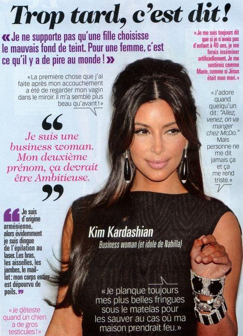 K.im Kardashian dans la presse