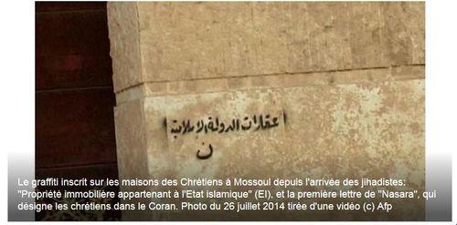Graffii chrétiens Irak