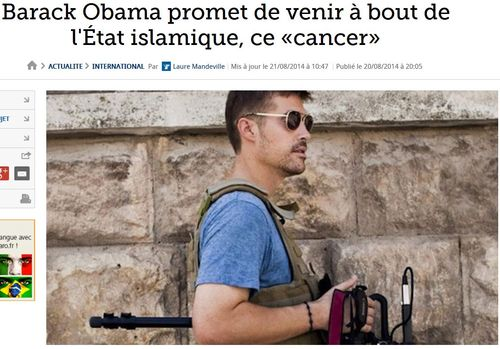 Obama l'Etat islamiste ce cancer - 21.08.2014