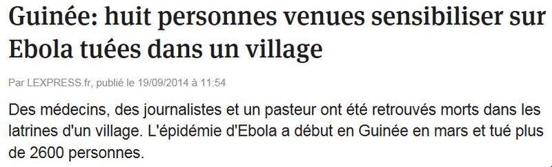 Ebola tue
