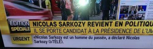 Sarkozy est un homme du passé