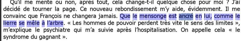Le mensonge est ancré en lui-V Trierweiler-page 84