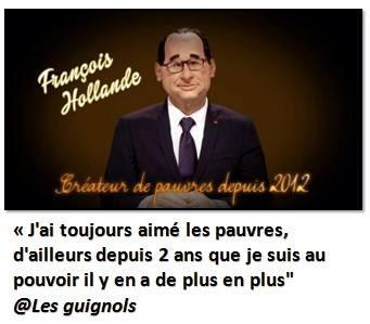Hollande créateur de pauvres-Les Guignols