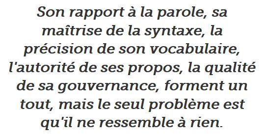 Hollande - son rapport à la parole