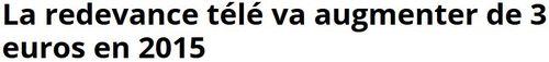 Redevance télé en hausse-01.10.2014