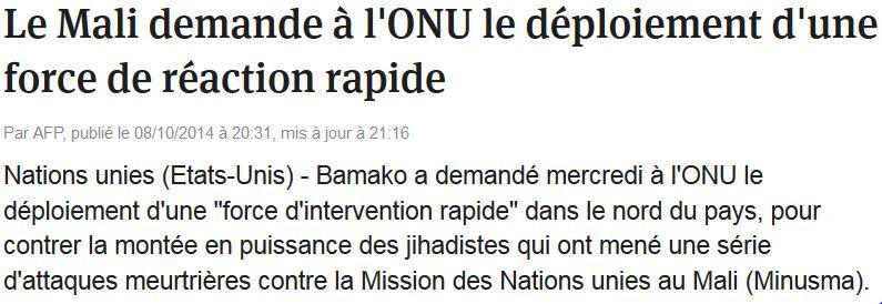 Le Mali demande des renforts pour lutter contre les djihadistes