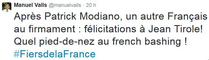 Prix Nobel Economie pied de nez au French bashing