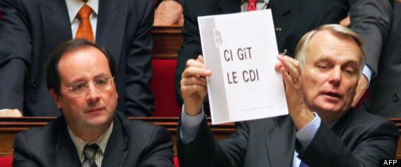 Hollande et Ayrault - 31.01.2006-ci-git le CDI