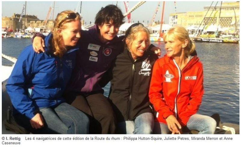 Route du Rhum 2014 - 4 femmes sur 91 partants