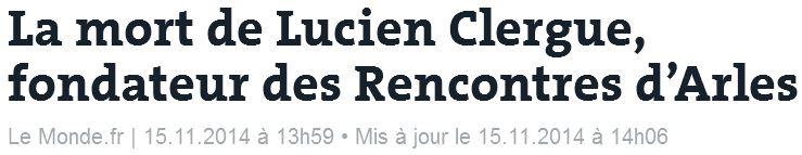 Lucien Clergue - Le Monde