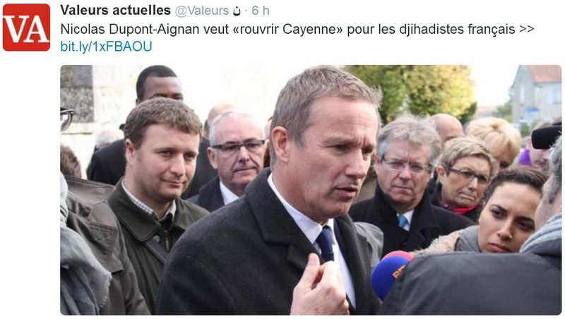 Dupont-Aignan-rouvrir Cayenne