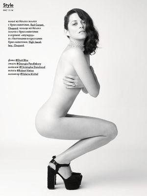 Marion Cotillard dans le magazine russe SNC