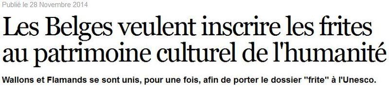 Frites patrimoine culturel de l'humanité-28.11.2014