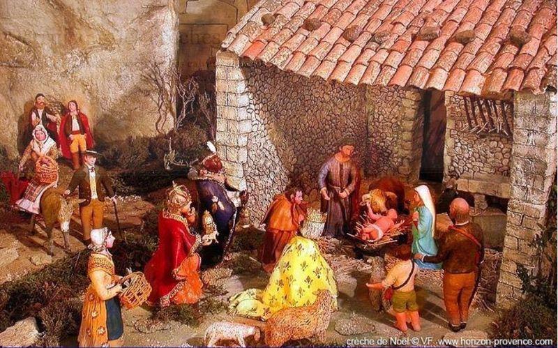 Crèche de Noël en Provence