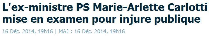Marie-Arlette Carlotti mise en examen-16.12.2014