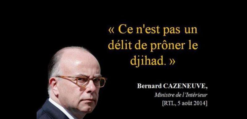 Cazeneuve - pas un délit de prôner le djihad-RTL-05.08.2014