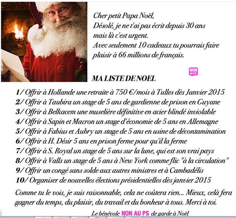 Liste de 10 cadeaux 2014 pour le Père Noël
