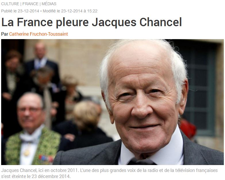 RFI-la France pleure Jacques Chancel-23.12.2014