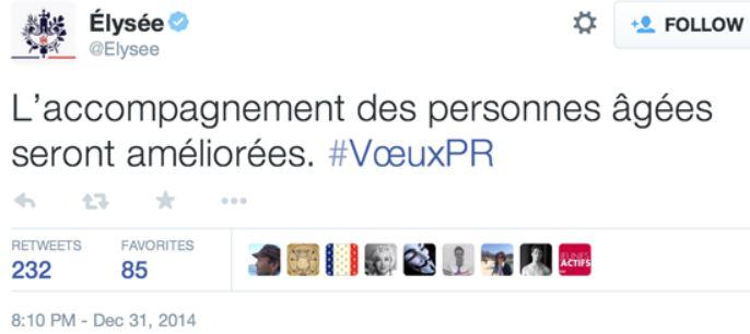 TWEET Elysée 31.12.2014