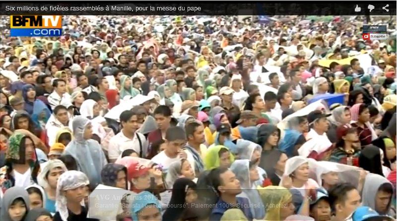 Manille une messe pour 6 millions de fidèles - 17.01.2015