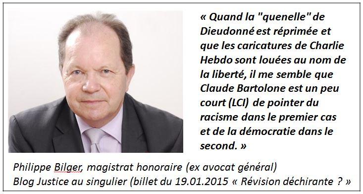 TWEET - Blogueur Philippe Bilger - billet du 19.01.2015