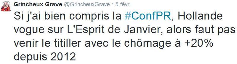 TWEET-Hollande l'esprit de janvier