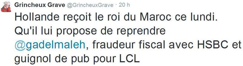 TWEET - Gad Elmaleh fraudeur fiscal - 09.02.2015