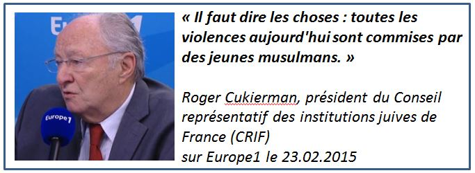 TWEET - Roger Cukierman sur Europe1 - 23.02.2015