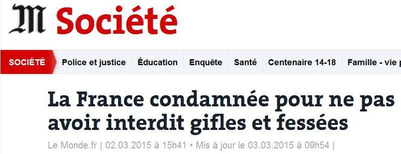 Féssée-La France condamnée par l'UE-02.03.2015