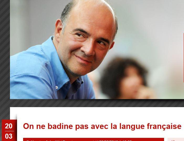 Moscovici-on ne badine pas avec la langue française-20.03.2015
