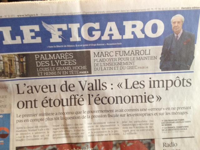 Figaro-une du 01.04.2015