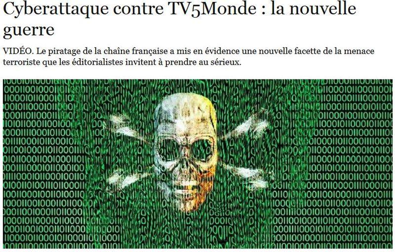 TV5Monde - la nouvelle guerre - Le Point 10 avril 2015